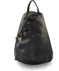 Dámský černý trendový batoh Dita Marlen 11001