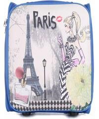 Palubní kufřík italské firmy Or&Mi 2 kolečka Modrá Paris 1