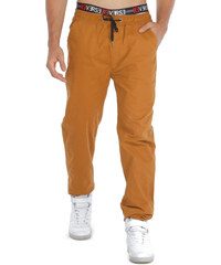 Re-Verse Chinohose im Sweatpants-Design - Camel - S