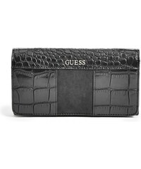 GUESS GUESS Paradis Croc-Embossed Wallet - black