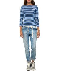 Modré pruhované tričko s dlouhým rukávem|XS Soccx 491051