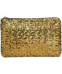 Psaníčko s flitry zlaté C65066
