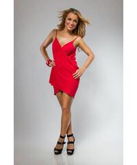 Plážové šaty pareo barva červená