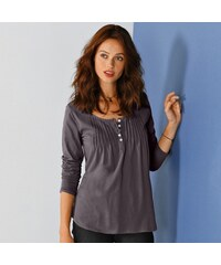 Colors & co Blancheporte Tee-shirt boutonné manches longues