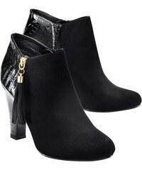 Lora Zellini Blancheporte Boots talons bi-matière pompons
