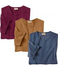 Blancheporte Tee-shirt uni manches courtes - lot de 3