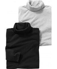 Blancheporte Tee-shirt col roulé maille jersey - lot de 2