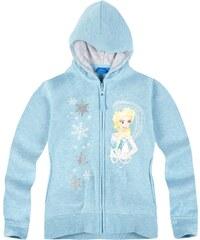 Disney Die Eiskönigin Sweatjacke hellblau in Größe 104 für Mädchen aus 60 % Baumwolle 40 % Polyester