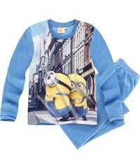 Minions Pyjama Microfleece blau in Größe 116 für Jungen aus 100% Polyester