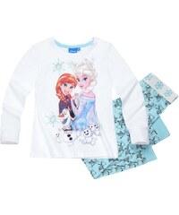 Disney Die Eiskönigin Pyjama hellblau in Größe 104 für Mädchen aus Oberteil: 100% Baumwolle Hose: 60% Baumwolle 40% Polyester