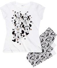 Disney Minnie Pyjama weiß in Größe S für Damen aus 100% Baumwolle