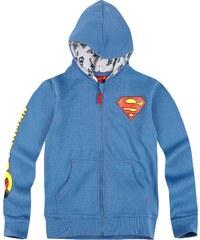Superman Sweatjacke blau in Größe 104 für Jungen aus 80% Baumwolle 20% Polyester