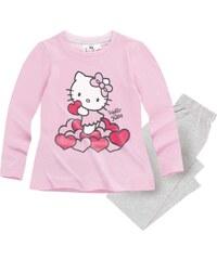 Hello Kitty Pyjama grau in Größe 98 für Mädchen aus 100% Baumwolle Graumelange: 95% Baumwolle 5% Viskose
