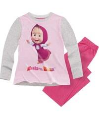 Mascha und der Bär Pyjama pink in Größe 104 für Mädchen aus 100% Baumwolle