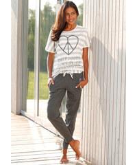 ARIZONA Skvělé, ležérní pyžamo s kalhotami, Ariz proužky/šedý melír