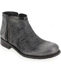 Boots Femme Felmini en Cuir Argent