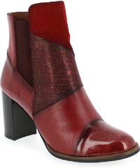 Boots Femme Hispanitas en Cuir Rouge