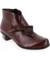 Boots Femme Every body en Cuir Rouge