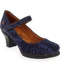 Escarpins Femme Art en Cuir velours Bleu