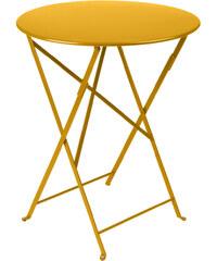 Skládací kovový stůl Bistro, medově žlutý