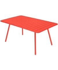 Kovový jídelní stůl Luxembourg, oranžovo-červený