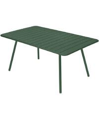 Kovový jídelní stůl Luxembourg, lesní zelená