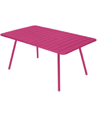 Kovový jídelní stůl Luxembourg, sytě růžový