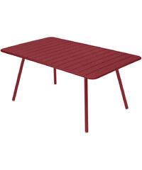 Kovový jídelní stůl Luxembourg, chilli červený