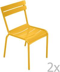 Sada 2 židlí Luxembourg, medově žlutá