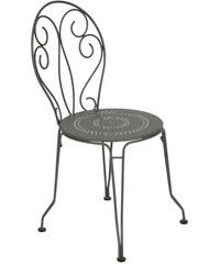 Kovová židle Montmartre, rozmarýnově šedá