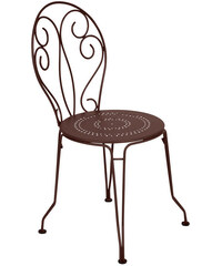 Kovová židle Montmartre, rezavá hnědá