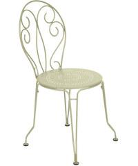 Kovová židle Montmartre, světle zelená vrba