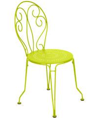 Kovová židle Montmartre, jasně zelená