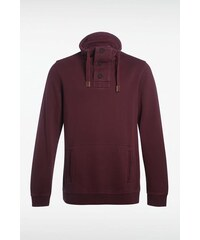 Sweat homme col montant Rouge Coton - Homme Taille L - Bonobo