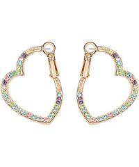 Lesara Herz-Ohrringe mit Swarovski Elements - Mehrfarbig