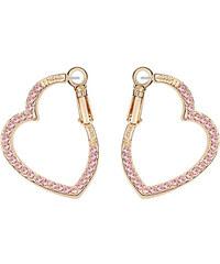 Lesara Herz-Ohrringe mit Swarovski Elements - Pink