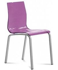DOMITALIA Srl Gel-R - Jídelní židle (hliník, fialová)