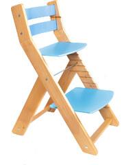 Wood Partner Rostoucí židle Mony - natur lak / modrá