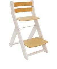 Wood Partner Rostoucí židle Mony - bílá / sedák buk