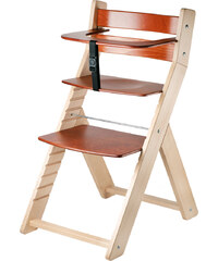 Wood Partner Rostoucí židle Luca- natur lak / mahagon