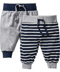 bpc bonprix collection Lot de 2 pantalons bébé en coton bio gris enfant - bonprix