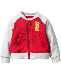 bpc bonprix collection Gilet sweat bébé en coton bio rouge enfant - bonprix