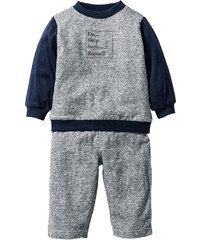 bpc bonprix collection Sweat-shirt bébé + pantalon sweat (Ens. 2 pces.) en coton bio noir enfant - bonprix