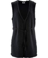 bpc bonprix collection Gilet fourrure peluche noir sans manches femme - bonprix