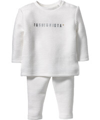 bpc bonprix collection Sweat-shirt bébé + pantalon sweat structuré (Ens. 2 pces.) blanc enfant - bonprix