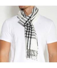 Trendhim Černobílý vzorovaný šátek B3-2-263