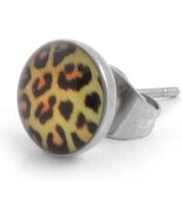Trendhim Jednoduchá leopardí náušnice E3-6-503