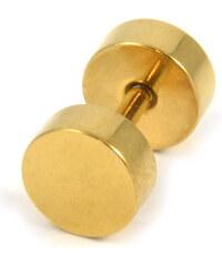 Trendhim 6 mm Zlatý falešný plug do ucha E1-7-1227