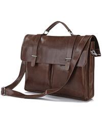 Delton Bags Hnědá kožená brašna Vintage J4-9-2045