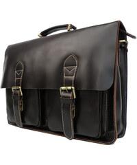 Delton Bags Kožená brašna Vintage koňakové barvy AD12